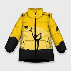 Куртка зимняя для девочки Гармония Утра цвета 3D-черный — фото 1