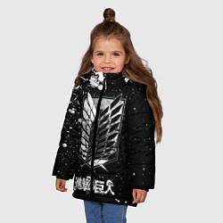 Куртка зимняя для девочки Атака на титанов цвета 3D-черный — фото 2