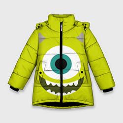 Куртка зимняя для девочки Майк Вазовский цвета 3D-черный — фото 1
