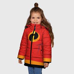 Куртка зимняя для девочки Суперсемейка м цвета 3D-черный — фото 2