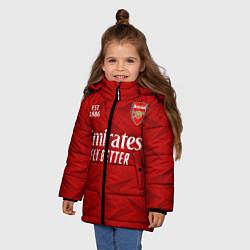 Куртка зимняя для девочки ARSENAL 2021 - ДОМАШНЯЯ цвета 3D-черный — фото 2