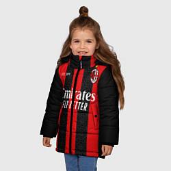 Куртка зимняя для девочки AC MILAN 2021 - ДОМАШНЯЯ цвета 3D-черный — фото 2