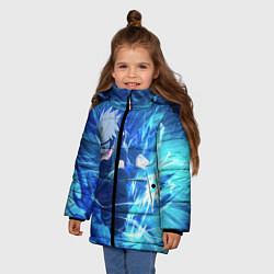 Куртка зимняя для девочки Какаши Наруто цвета 3D-черный — фото 2