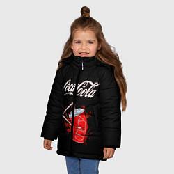 Куртка зимняя для девочки Coca Cola цвета 3D-черный — фото 2