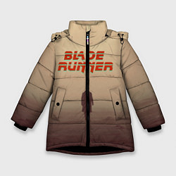 Куртка зимняя для девочки Бегущий по лезвию цвета 3D-черный — фото 1