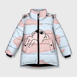 Куртка зимняя для девочки Мем цвета 3D-черный — фото 1