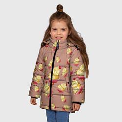 Куртка зимняя для девочки Пирожное с вишней цвета 3D-черный — фото 2
