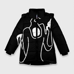 Куртка зимняя для девочки Haunted Family цвета 3D-черный — фото 1