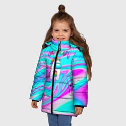 Куртка зимняя для девочки Impostor Unicorn цвета 3D-черный — фото 2