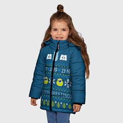 Куртка зимняя для девочки Monster greetings цвета 3D-черный — фото 2