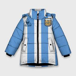 Куртка зимняя для девочки Джерси Марадоны с автографом цвета 3D-черный — фото 1