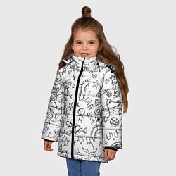 Куртка зимняя для девочки DIE ANTWOORD цвета 3D-черный — фото 2