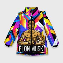 Куртка зимняя для девочки ИЛОН МАСК цвета 3D-черный — фото 1