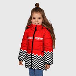 Куртка зимняя для девочки Twin Peaks цвета 3D-черный — фото 2