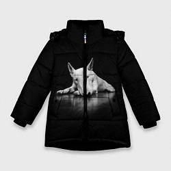 Куртка зимняя для девочки Puppy цвета 3D-черный — фото 1