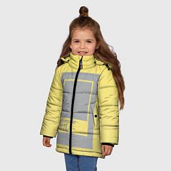 Куртка зимняя для девочки Ultimate Gray 17-5104 цвета 3D-черный — фото 2