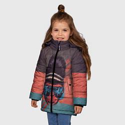 Куртка зимняя для девочки Горилла цвета 3D-черный — фото 2