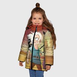 Куртка зимняя для девочки Разочарование цвета 3D-черный — фото 2