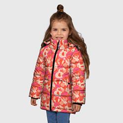 Куртка зимняя для девочки Сердца цвета 3D-черный — фото 2