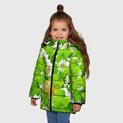 Куртка зимняя для девочки Ирландский Клевер и Монетка цвета 3D-черный — фото 2
