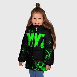 Детская зимняя куртка для девочки с принтом Dayz, цвет: 3D-черный, артикул: 10287511106065 — фото 2