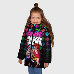 Куртка зимняя для девочки FRIDAY NIGHT FUNKIN цвета 3D-черный — фото 2