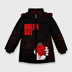 Куртка зимняя для девочки Green day цвета 3D-черный — фото 1