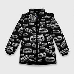 Куртка зимняя для девочки Peaky Blinders Лезвие Паттерн цвета 3D-черный — фото 1