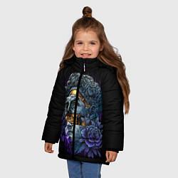Куртка зимняя для девочки David Skull цвета 3D-черный — фото 2