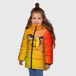 Куртка зимняя для девочки Орёл 3d цвета 3D-черный — фото 2