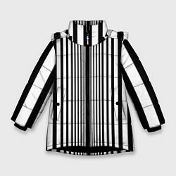 Куртка зимняя для девочки Эффект Доплера костюм Шелдона цвета 3D-черный — фото 1