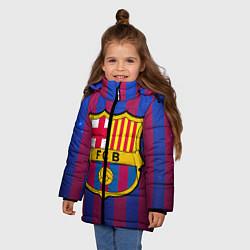 Куртка зимняя для девочки Barcelona цвета 3D-черный — фото 2
