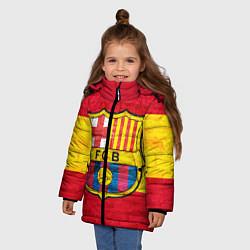 Детская зимняя куртка для девочки с принтом Barcelona, цвет: 3D-черный, артикул: 10063905206065 — фото 2