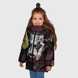 Куртка зимняя для девочки Slipknot Face цвета 3D-черный — фото 2