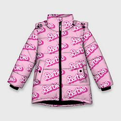 Куртка зимняя для девочки Barbie Pattern цвета 3D-черный — фото 1