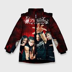 Куртка зимняя для девочки Bullet for my valentine цвета 3D-черный — фото 1