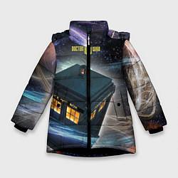 Куртка зимняя для девочки Police Box цвета 3D-черный — фото 1