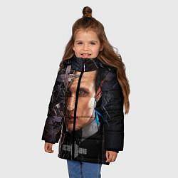 Детская зимняя куртка для девочки с принтом Доктор кто, цвет: 3D-черный, артикул: 10065035006065 — фото 2