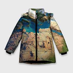 Куртка зимняя для девочки Земля цвета 3D-черный — фото 1