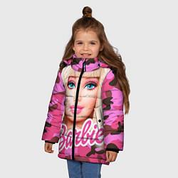 Куртка зимняя для девочки Барби цвета 3D-черный — фото 2