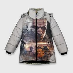 Куртка зимняя для девочки Ведьмак цвета 3D-черный — фото 1