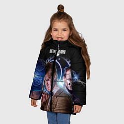 Куртка зимняя для девочки Одиннадцатый Доктор цвета 3D-черный — фото 2