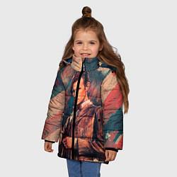 Детская зимняя куртка для девочки с принтом Доктор кто, цвет: 3D-черный, артикул: 10065374306065 — фото 2