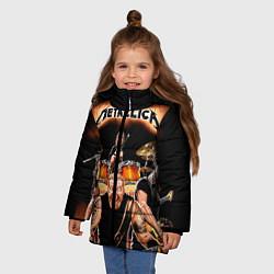 Куртка зимняя для девочки Metallica Band цвета 3D-черный — фото 2