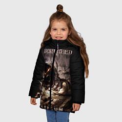 Куртка зимняя для девочки Disturbed цвета 3D-черный — фото 2