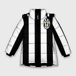Куртка зимняя для девочки Juventus: Vidal цвета 3D-черный — фото 1