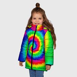 Куртка зимняя для девочки Tie dye - фото 2