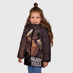 Куртка зимняя для девочки Муай тай боец - фото 2