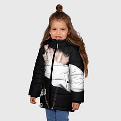Куртка зимняя для девочки BTS: Hood by air цвета 3D-черный — фото 2