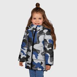Куртка зимняя для девочки Зимний камуфляж цвета 3D-черный — фото 2